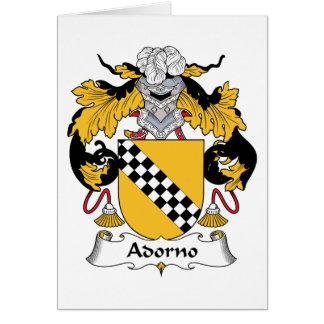 Escudo de la familia de Adorno Tarjeton