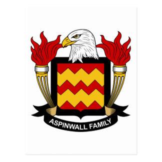 Escudo de la familia de Aspinwall Postal