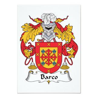 Escudo de la familia de Barco Invitaciones Personales