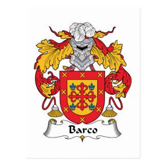 Escudo de la familia de Barco Postal