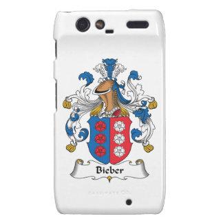 Escudo de la familia de Bieber Droid RAZR Funda