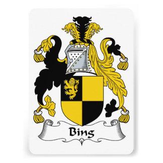 Escudo de la familia de Bing Comunicado Personalizado