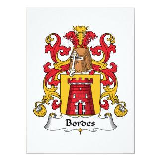 Escudo de la familia de Bordes Invitación 16,5 X 22,2 Cm