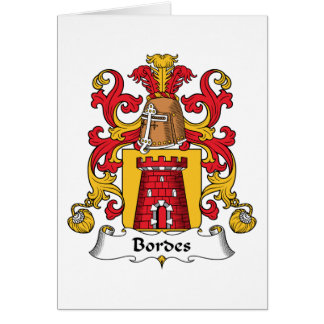 Escudo de la familia de Bordes Felicitaciones