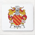 Escudo de la familia de Botelho Tapetes De Ratón
