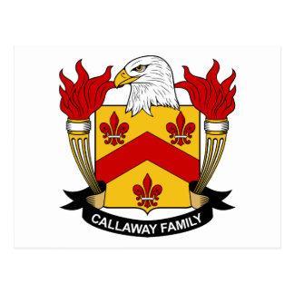 Escudo de la familia de Callaway Postal