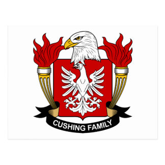 Escudo de la familia de Cushing Postal