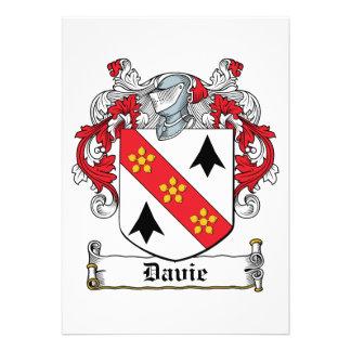 Escudo de la familia de Davie Invitacion Personalizada