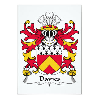 Escudo de la familia de Davies Comunicado Personalizado
