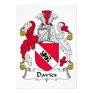 Escudo de la familia de Davies Invitaciones Personales
