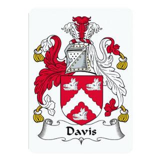 Escudo de la familia de Davis Invitaciones Personales