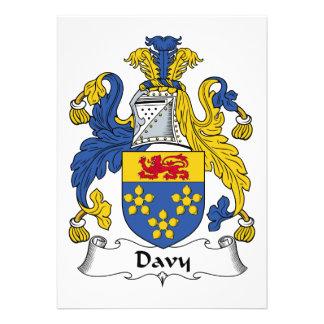 Escudo de la familia de Davy Invitacion Personalizada
