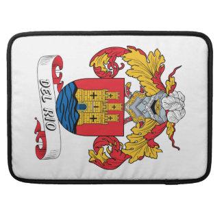 Escudo de la familia de Del Río Funda Macbook Pro