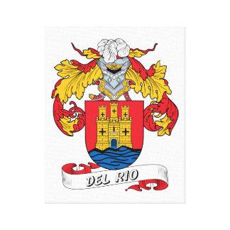 Escudo de la familia de Del Río Lona Envuelta Para Galerias