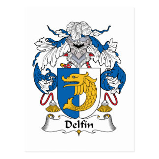 Escudo de la familia de Delfin Tarjeta Postal