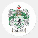 ESCUDO DE LA FAMILIA DE GALLAGHER - ESCUDO DE ETIQUETAS REDONDAS