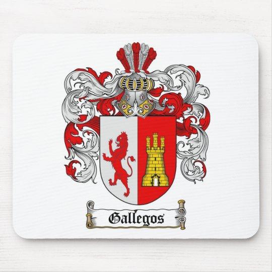 ESCUDO DE LA FAMILIA DE GALLEGOS - ESCUDO DE ARMAS ALFOMBRILLA DE RATÓN
