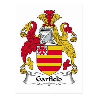 Escudo de la familia de Garfield Postal