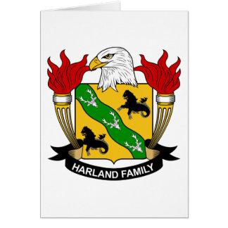 Escudo de la familia de Harland Tarjeta De Felicitación