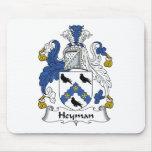 Escudo de la familia de Heyman Alfombrillas De Ratones