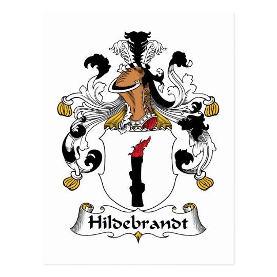 Escudo de la familia de Hildebrandt Postal