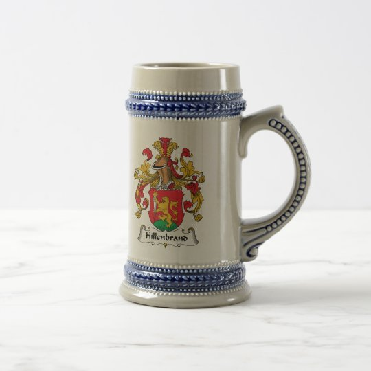 Escudo de la familia de Hillenbrand Jarra De Cerveza