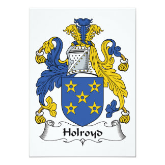 Escudo de la familia de Holroyd Invitación 12,7 X 17,8 Cm