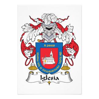 Escudo de la familia de Iglesia Invitación