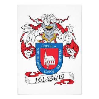 Escudo de la familia de Iglesias Invitación Personalizada