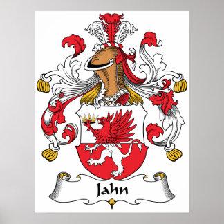 Escudo de la familia de Jahn Póster