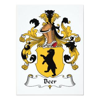 Escudo de la familia de la cerveza anuncio personalizado