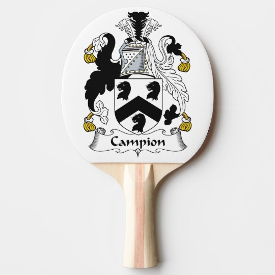 Escudo de la familia de la coronaria pala de ping pong