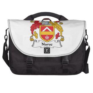 Escudo de la familia de la enfermera bolsa para ordenador