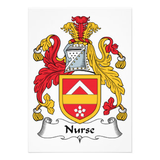 Escudo de la familia de la enfermera invitaciones personales
