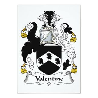 Escudo de la familia de la tarjeta del día de San Comunicados Personalizados