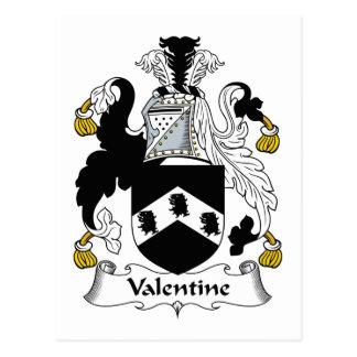 Escudo de la familia de la tarjeta del día de San  Postales