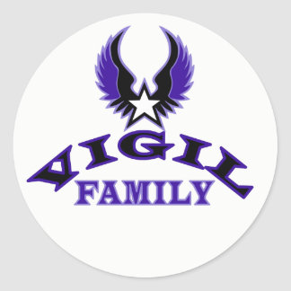 Escudo de la familia de la vigilia pegatina redonda