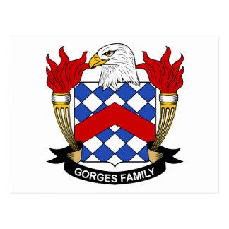Escudo de la familia de las gargantas postal