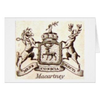 Escudo de la familia de Macartney Felicitación