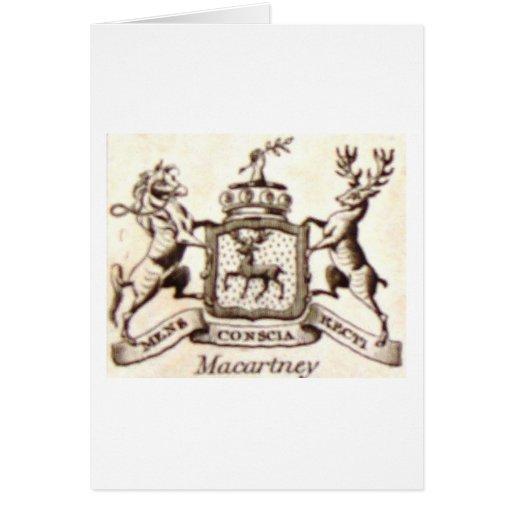 Escudo de la familia de Macartney Tarjetas