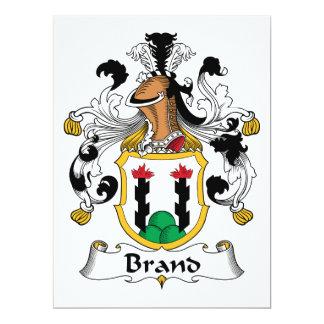 Escudo de la familia de marca invitaciones personalizada