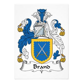 Escudo de la familia de marca invitacion personal