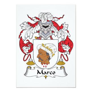Escudo de la familia de Marco Comunicados Personalizados