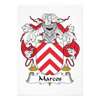 Escudo de la familia de Marcos Invitación Personalizada
