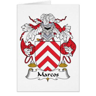 Escudo de la familia de Marcos Tarjeta