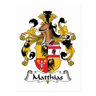 Escudo de la familia de Matías Postales