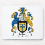 Escudo de la familia de Milne Alfombrillas De Ratón