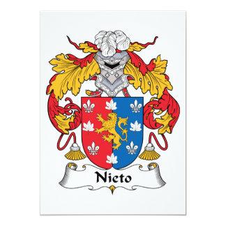 Escudo de la familia de Nieto Invitación 12,7 X 17,8 Cm