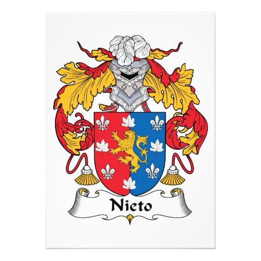 Escudo de la familia de Nieto Invitación
