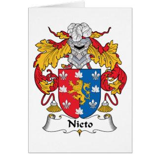 Escudo de la familia de Nieto Tarjetón